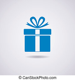 caixa, vetorial, presente, ícone
