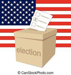 caixa, voto, eleição, nós