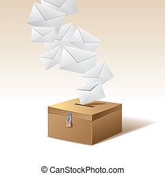 caixa, voto, votando