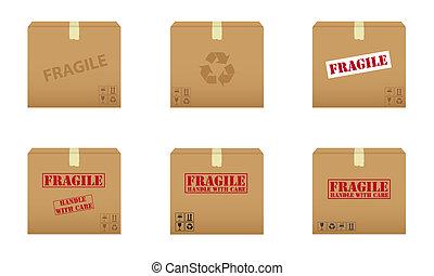 caixas cartão