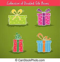 caixas, cobrança, presente