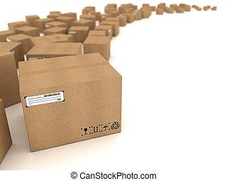 caixas, papelão