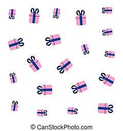 caixas, presente, celebração