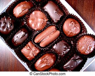 caja, 3, chocolates