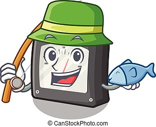 caja, amperio, carácter, pesca, metro