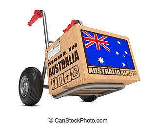 caja, australia, -, mano hecha, cartón, truck.