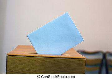 caja, balotas, papeleta, elección, mujeres