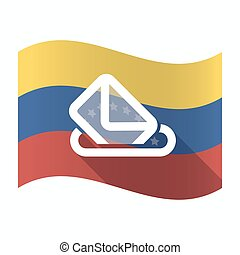 caja, bandera de venezuela, papeleta, aislado