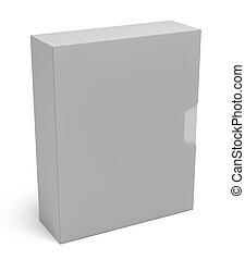 caja, blanco, aislado, software