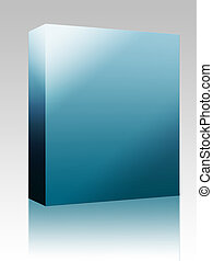 caja, blanco, software