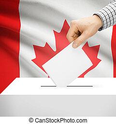 caja, canadá, nacional, -, bandera, plano de fondo, papeleta