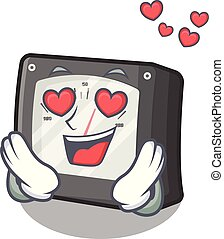 caja, carácter, amperio, amor, metro