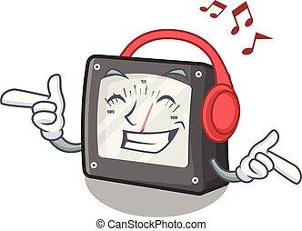 caja, carácter, metro, la música escuchar, amperio