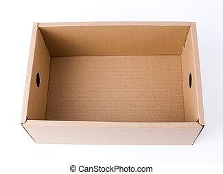 caja, cartón, contenedor, isol, cartón