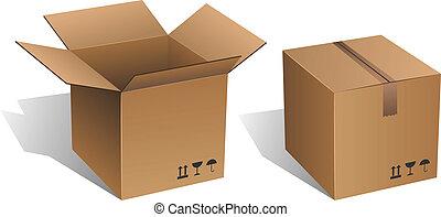 caja, cartón