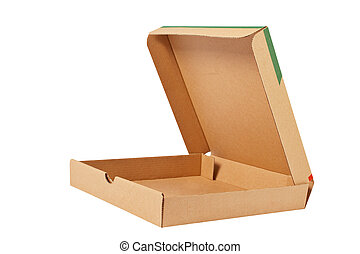 caja, cartón, pizza