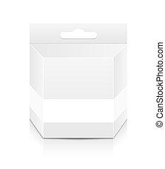 caja, cartucho, plantilla