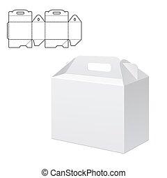 caja, claro, cartón, regalo