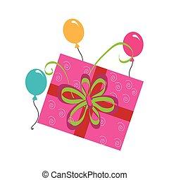 Corazones tipo regalo