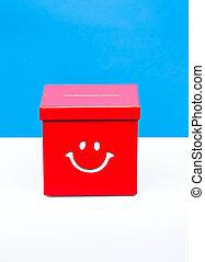 caja, concepto, papeleta, elección