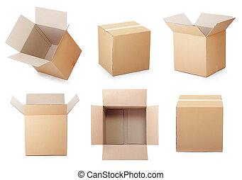 caja, Conjunto, cartón