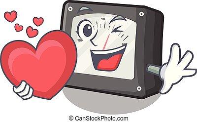 caja, corazón, amperio, carácter, metro