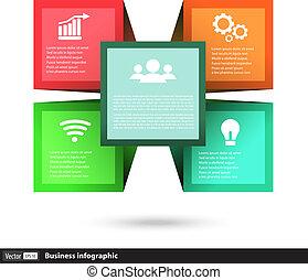 caja, cubo, iconos del negocio, vector, conceptos