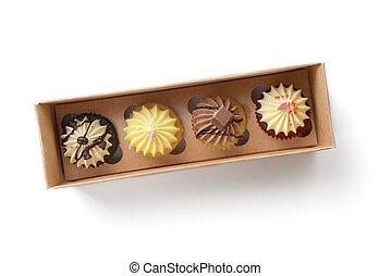 caja, cupcake
