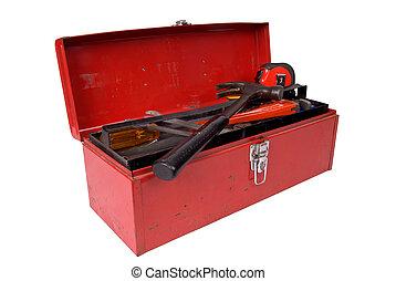 caja de herramientas, abierto