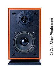caja de madera, audio, orador