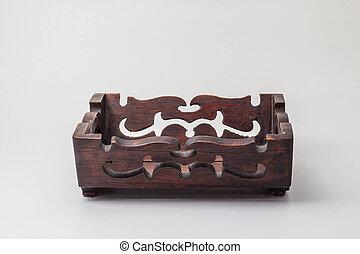 caja de madera, fondo