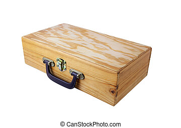 caja de madera, viejo