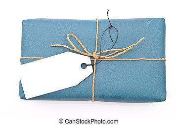 caja del poste, paquete, cartón