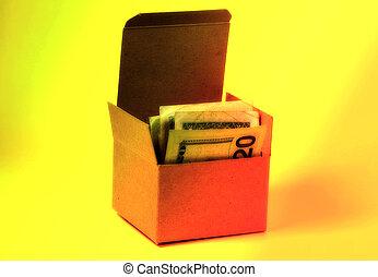 caja, dinero, 2
