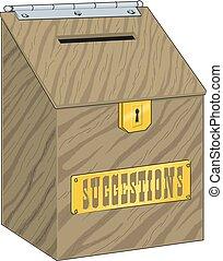 caja, dinero, donación, vector, illustration.