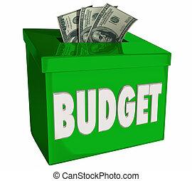 caja, dinero, efectivo, ilustración, presupuesto, depósito, ingresos, excepto, 3d