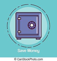 caja, dinero, excepto, icono