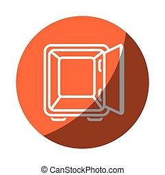 caja, dinero, seguro, icono