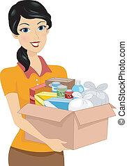 caja, donación