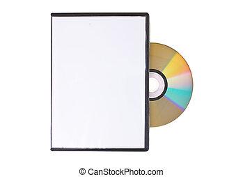 caja, dvd, disco