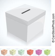 caja, elección