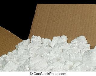 caja, embalaje, material