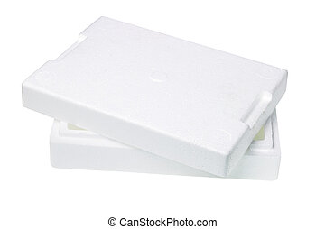 caja, embalaje, styrofoam