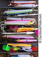 caja, engaña, colorido, pez, agua salada, pesca