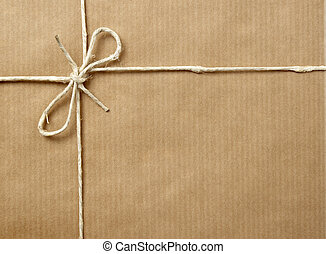 caja, envolver, paquete
