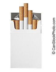 caja, fumar cigarrillo