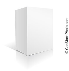 caja, grande, blanco