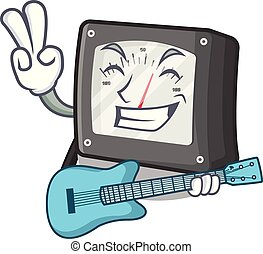 caja, guitarra, amperio, carácter, metro