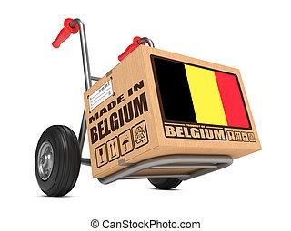 caja, hecho, -, mano, cartón, bélgica, truck.