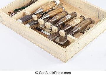 caja, herramientas